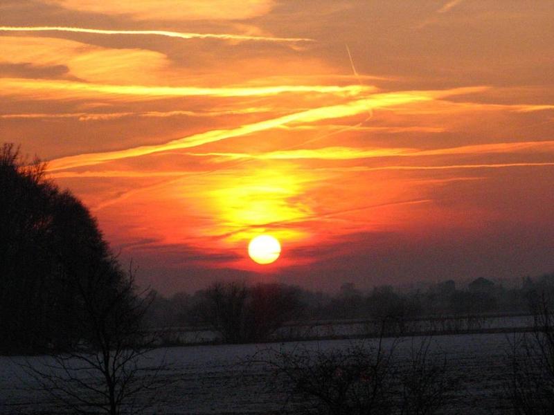 Příroda – západ slunce